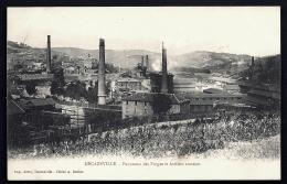 CPA PRECURSEUR FRANCE- DECAZEVILLE (12)- VUE DES FORGES ET ATELIERS ANNEXES EN 1900- NOMBREUSES CHEMINÉES- GROS PLAN - Decazeville