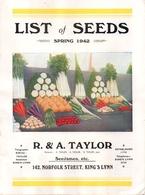 Catalogue R&A Taylor 1942 - Livres, BD, Revues