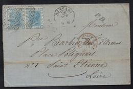 SASSARI - ITALIE - ITALIA - SARDINIA / 1873 LETTRE POUR LA FRANCE (ref 5307a) - 1861-78 Vittorio Emanuele II