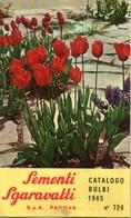 Catalogue Sgaravatti Bulbi 1965 - Jardinage