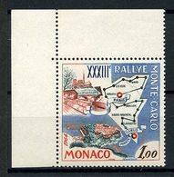 MONACO 1963  N° 616 ** Neuf MNH Superbe C 1,70 € Rallye Automobile Parcours Paris Monte Carlo Voitures Cars Transports - Monaco