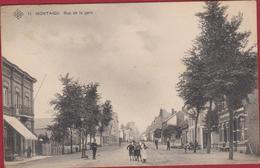 Scherpenheuvel Rue De La Gare ZELDZAAM Geanimeerd 1909 RARE - Scherpenheuvel-Zichem