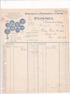 76-Facture Pommel Spécialité De Fromages à La Crème Gournay En Bray (Seine Maritime) 1926 - Alimentaire