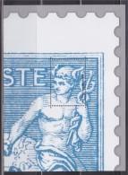Bloc Gommé Neuf Type Sage Par Phil@poste Sans Valeur Faciale Soit 1/4 Timbre Haut Droit - Blocks & Kleinbögen