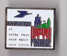 PIN'S  THEME POSTE VILLE DE PONTOISE - Mail Services