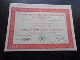 CERAMIQUES ET GRES DU DAUPHINE La Sainte Uzienne (saint Uze-drome) - Shareholdings