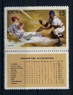Cuba ** N° 1312 Avec Vignette - Championnats Du Monde De Base-ball - Cuba