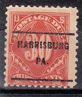 USA Precancel Vorausentwertung Preo, Locals Pennsylvania, Harrisburg J67-L-8 E - Vereinigte Staaten