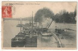 92 - La Seine Pittoresque 102 - La Seine à BOULOGNE - 1908 - Péniches - Attelages - Boulogne Billancourt