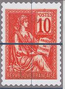 = Bloc Gommé Neuf Type Mouchon De Phil@poste Sans Valeur Faciale Les 4 Quarts Du Timbre 112 - Sheetlets