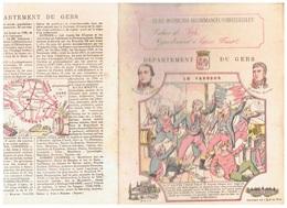 JM21.04 / PROTEGE- CAHIERS - ELEVE LOUIS FAUST /  DEPARTEMENT DU GERS ( AUCH - LE CHATEAU DE L ILE DE NOE...) LE VENGEUR - Copertine Di Libri