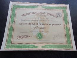FONDERIES EMAILLERIES DE SAINT DENIS (émaux J. LE HERON) - Shareholdings