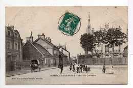 - CPA ROMILLY-SUR-SEINE (10) - Rue Du Calvaire 1910 (belle Animation) - Edition Vve Lordey-Chalopin - - Romilly-sur-Seine