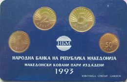 Macedonia Set Of 4 Coins 1993 50-deni-1-2-5-denars UNC - Macedonia