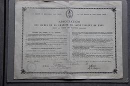 Diplôme Association Des Dames De La Charité De Saint Vincent De Paul, 1920 - Diploma & School Reports