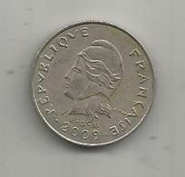 Monnaie , POLYNESIE FRANCAISE , 2009 , 10 F , 2 Scans - Frans-Polynesië