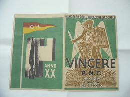 WW1 WW2 ITALIAN FASCIST PAGELLA OND PNF GIL BALILLA - Diploma & School Reports