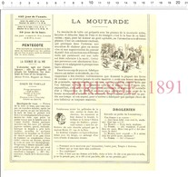 2 Scans1891 Publicité Implicite Moutarde Grey-Poupon / Tonneaux à Purin Amiot Et Bariat à Bresles (Oise) Tonneau 216CH13 - Unclassified