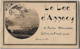 LE LAC D'ANNECY / CARNET DE 11 CARTES POSTALES DETACHABLES - Annecy