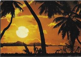 TRAMONTO SULLE SEYCELLES  - VIAGGIATA 1981 FRANCOBOLLO ASPORTATO - Seychelles