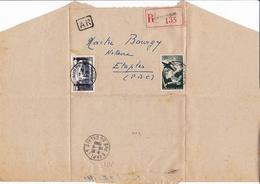 Lettre 1949 Recommandé Auberchicourt Etaples Pas De Calais Maître Bourgy Notaire - Lettres & Documents
