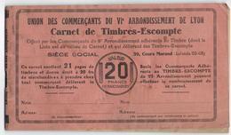 69 - LYON - 6ème Arrondissement - Union Des Commerçants - Trés Ancien Carnet De Timbres Escompte - 1930 - - Collections