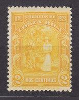 Costa Rica 1923 Mi. 109    2 C. UPU Postkongress Kaffer-Ernte, MH* - Costa Rica