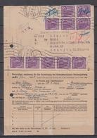 SBZ 10-Fachfrankatur MiNo. 944 Auf Finanzamtsvordruck Halle(Saale) 25.6.48 - Sowjetische Zone (SBZ)