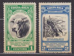 Costa Rica 1950 Mi. 460-61    Landwirtschaftausstellung, Cartago Zuchtbulle & Thunfischer, MH* - Costa Rica