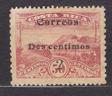 Costa Rica 1912 Mi. 85 A    2 C. Auf 50 C. Telegrafmarke Aufdruck Overprinted Correoes / Dos Centimos / 2, MH* - Costa Rica