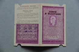 Carte D'électeur (Caen, Calvados), 1965 - Collections