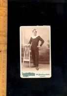 Photographie CDV Militaire Soldat Marin Médaille Décoration Croix De Guerre Marine Nationale Armée 1914 1918 - War, Military