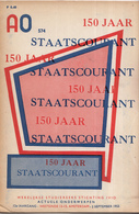 AO-reeks Boekje 574 - 150 Jaar Staatscourant - 02-09-1955 - History