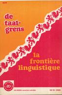 AO-reeks Boekje 938 - Dr. M. Van Haegendoren: De Taalgrens/La Frontiere Linguistique - 30-11-1962 - Histoire