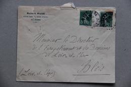 Enveloppe Robert Ruzé, Avoué à Orléans (Loiret), 1910 - Collections