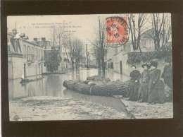 92 Billancourt La Rue De Meudon  édit. D.V. N° 5 Inondations De Paris 1910 - Boulogne Billancourt