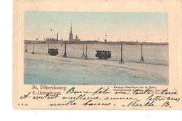 ST PETERSBOURG  PASSAGE ELECTRIQUE SUR LA NEVA - Russie
