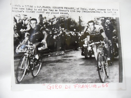 FOTO CICLISMO GIRO DI FRANCIA 1965 GIUSEPPE FEZZARDI GILBERT DESMET BELGIO - Ciclismo