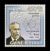 Guinea Bissau Karl Ferdinand Braun Nobel Price Physics Germany Radio Michel:4309 - Non Classificati