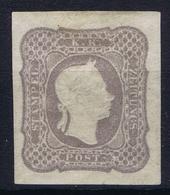 Osterreich: Mi 23 C Grauviolett MH/* Flz/ Charniere 1861 Signed/ Signé/signiert/ Approvato - 1850-1918 Imperium