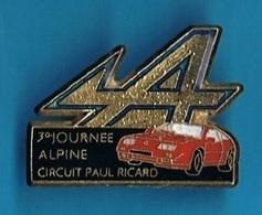 PIN'S //  ** 3ème JOURNÉE ALPINE ** CIRCUIT PAUL RICARD ** - Renault