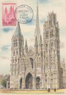 Carte Maximum  1er  Jour   FRANCE    Cathédrale  De  ROUEN   1957 - 1950-59