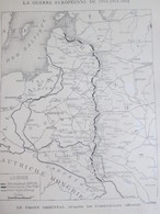 Guerre 14-18 Carte Du Front  Au 2 Février 1916 RUSSIE POLOGNE  Riga  Galicée  Vilna Czernovitz Kamenets - Unclassified