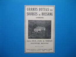 (1929) Grands Hôtels Des Sources De BUSSANG - Unclassified