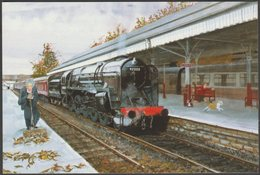 J Mathews - Railways, Leaves On The Line - Alternative Card Co Postcard - Stations With Trains