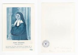 Relique Sainte Bernadette Soubirous, étoffe Non Précisée, 1960 - Imágenes Religiosas