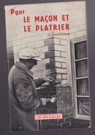 LE MACON ET LE PLATRIER De E. HANNOUILLE 1954 éditeur Dunod - Do-it-yourself / Technical