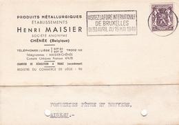 Produits Metallurgiques Métaux Henri Maisier Chênée Belgique Fonderies Pêtre Et Bruyère - België