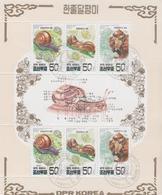 Korea 1997 M/S Asian Bush Snail Animals Reptiles Shell Animal Fauna Nature Stamps CTO Scott 3683a YV#B.311 - Environment & Climate Protection
