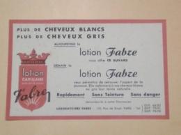 ---- BUVARD ---   PARIS  Rue De Rivoli - Lotion FABRE  Laboratoires - Chemist's